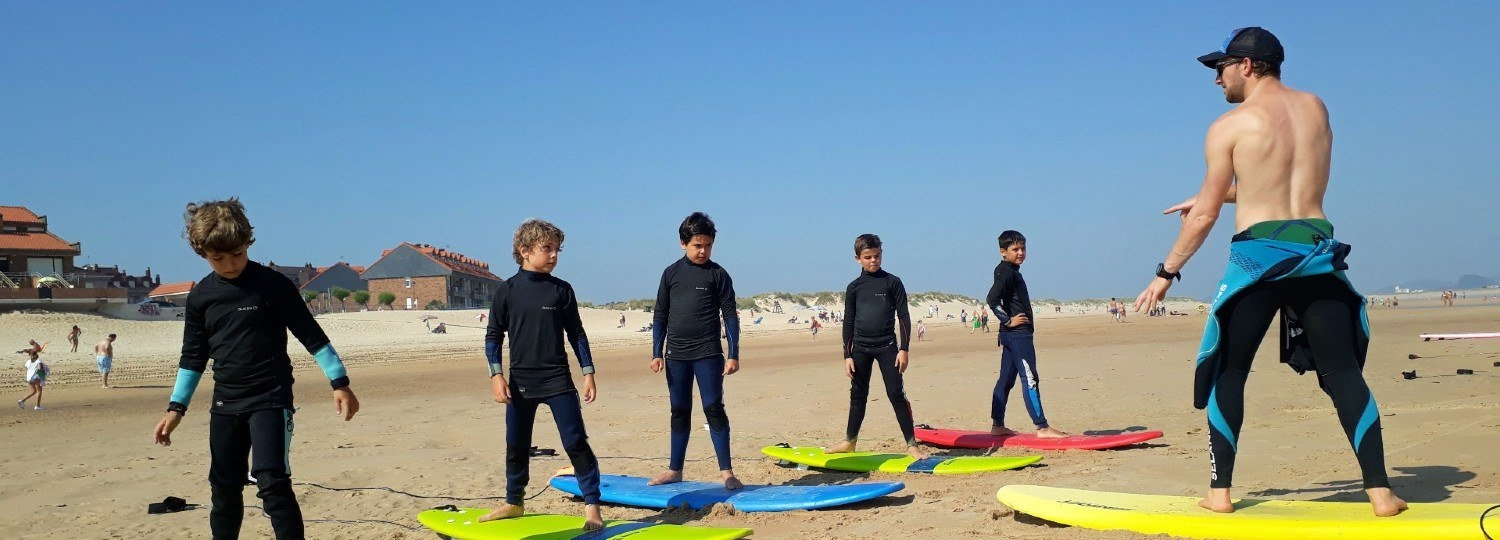 Surfing Classes for Children, Somo Beach
